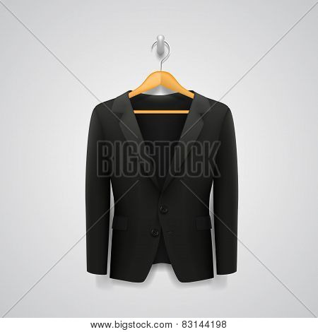 Jacket on a hanger