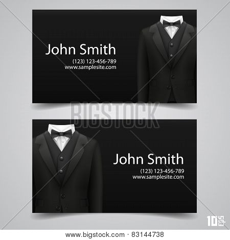 Jacket Business card