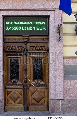 Lithuanian National Bank Door