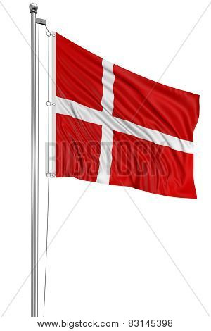3D Danish flag (clipping path included)