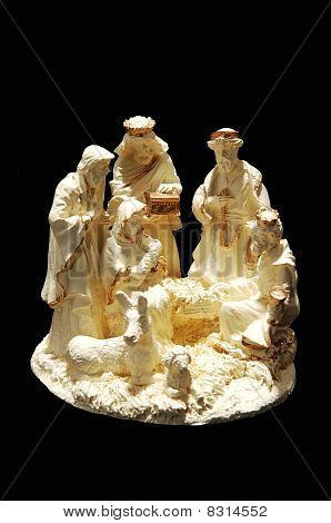 A Small Porcelain Nativity.