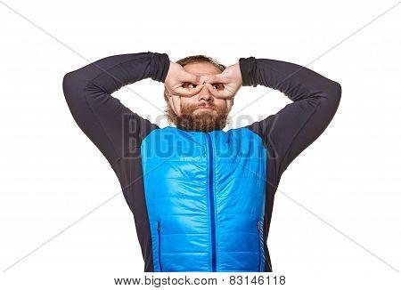 stout man  on a white background