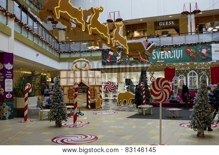 Christmas  Decorations In Hypermarket