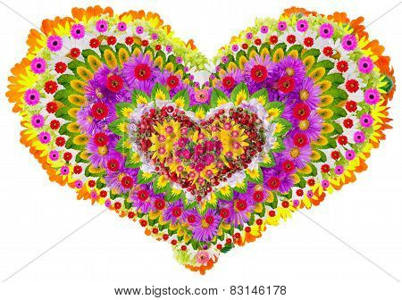 Isolated Floral Lheart Mandala