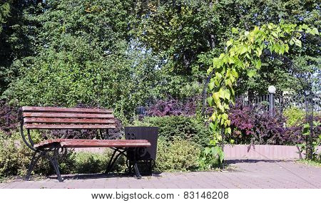 Wooden Bench For Rest