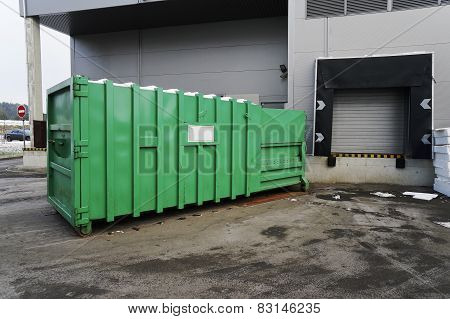 Green Container For The Utilized  Electronics