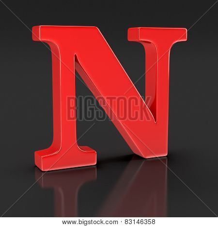 Letter N (clipping path included)