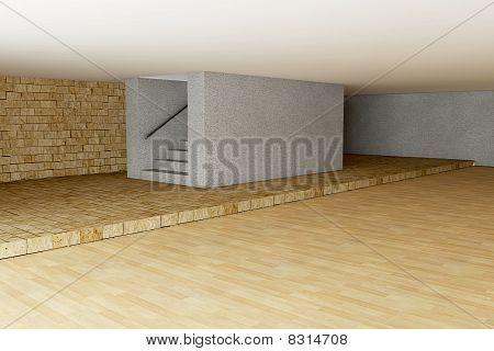 Empty Room In 3D