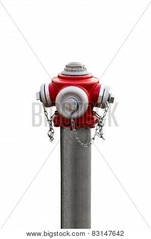 Modern red hydrant