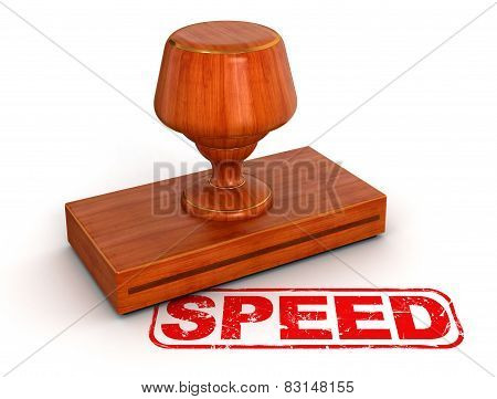 Rubber Stamp speed  (clipping path included)