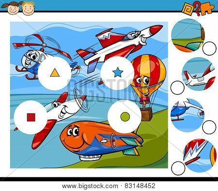Match Pieces Game Cartoon