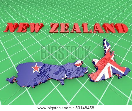 Map Illustration Of New Zealand