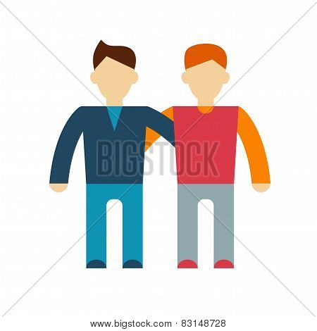 Friends on a white background, vector illustration