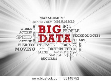 Word Cloud Big Data - Stock Image