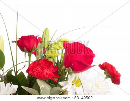 Spring Bouquet On White Background