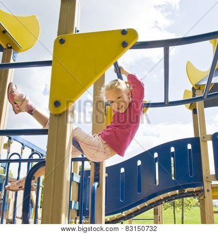 Girl Doing Sport Excercises