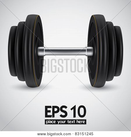 Dumbbell. Vector illustration