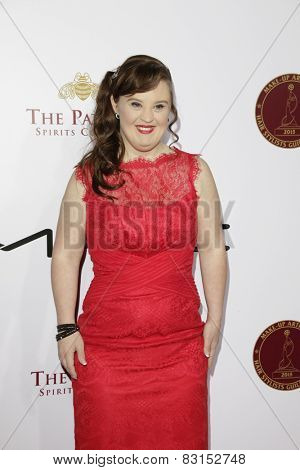 LOS ANGELES - FEB 14: Jamie Brewer at the Make-Up Artists & Hair Stylists Guild Awards at the Paramount Theater on February 14, 2015 in Los Angeles, CA