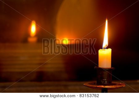 Mystical Flaming Candle