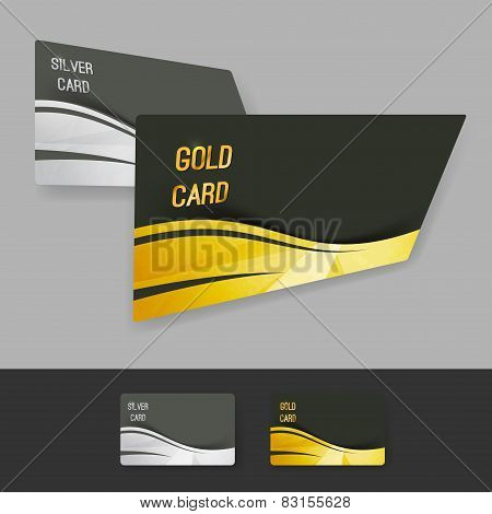 Premium Gold Silver Member Card Collection