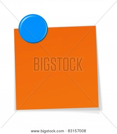 Notepaper With Magnet