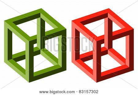 Optical Illusion Cubes