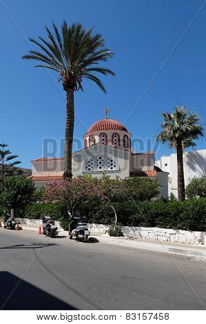 Church Of Constantine And Helen In Elounda Greece