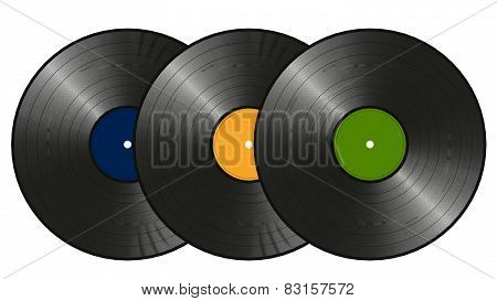 Three Vinyl Records