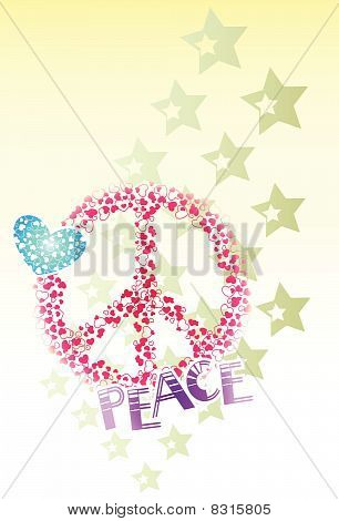 Heart Star Peace design