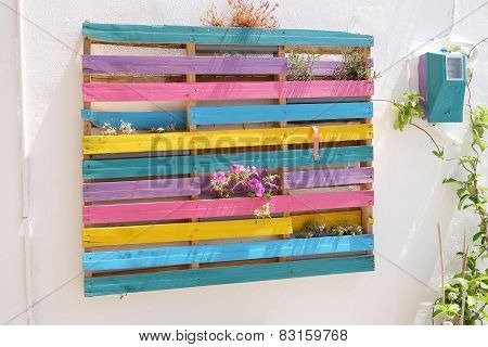 Colorful Windows With Louvered Shutters