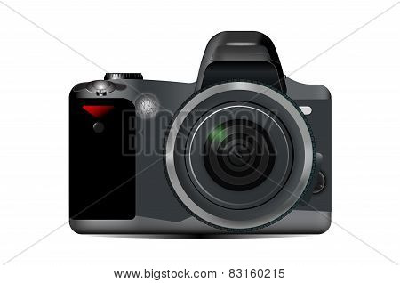Camera Close-up Isolated On A White Background