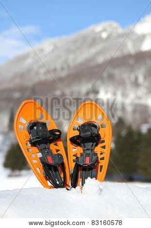 Modern Snowshoes In The Mountain
