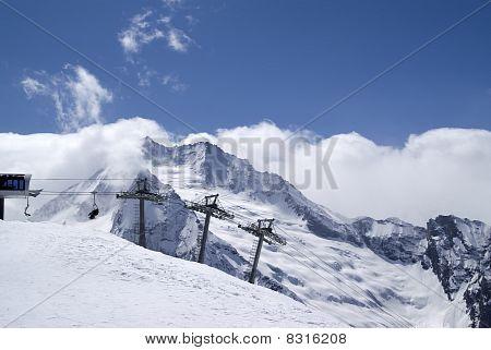 Ski Resort. Caucasus Mountains.