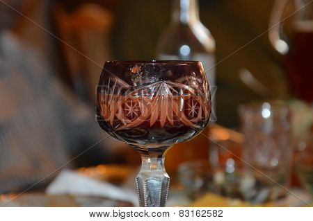 The wineglass for the celebration