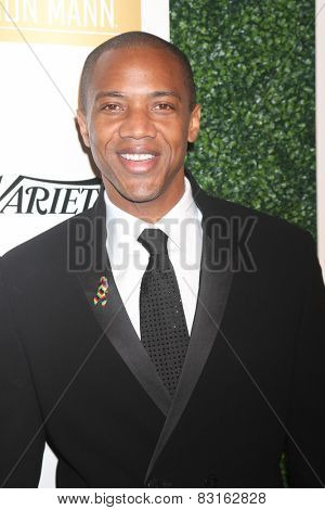 LOS ANGELES - FEB 18:  J. August Richards at the ICON Mann Power Dinner Party at a Mr C Beverly Hills on February 18, 2015 in Beverly Hills, CA