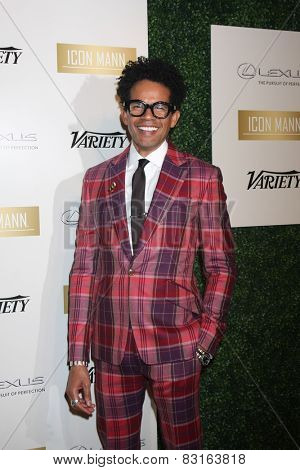 LOS ANGELES - FEB 18:  Aaron Walton at the ICON Mann Power Dinner Party at a Mr C Beverly Hills on February 18, 2015 in Beverly Hills, CA
