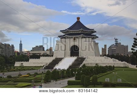 Chiang Kai Shek Memorial In Taipei