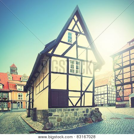 Old house in Germany. Instagram style filtred image