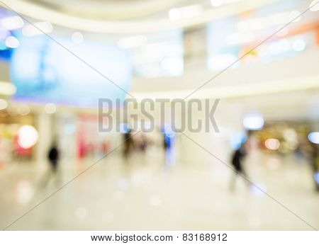 Blur view of Shopping department