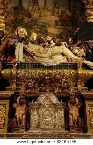Altar in Charity Hospital, Seville.