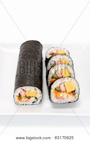 Seafood Rolled Sushi