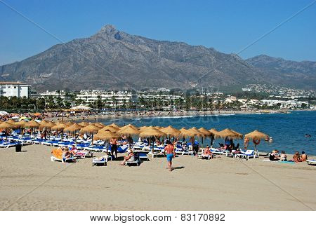 View of the beach, Marbella.