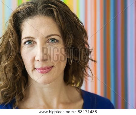 Friendly Middle Aged Woman