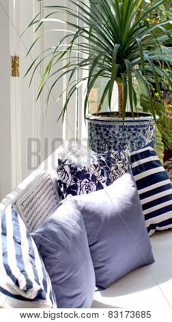 Blue And White China Theme Interior Decoration