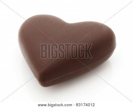 Chocolate Valentine Over White