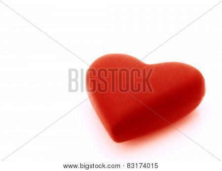 Red Valentine Over White