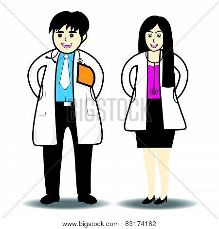 Doctor man and doctor woman