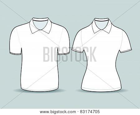 White Polo Shirt Outline