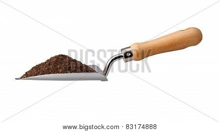 Garden Trowel With Potting Soil