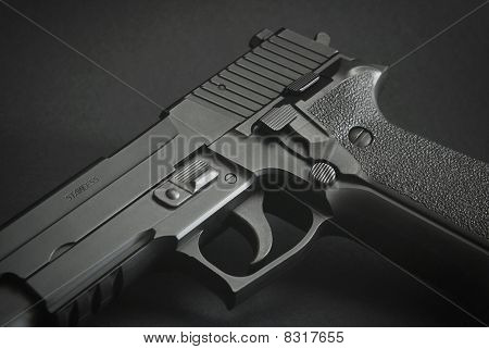 Black Automatic Firearm